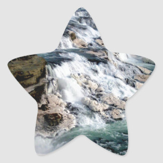 Gull Foss Waterfall Iceland Star Sticker