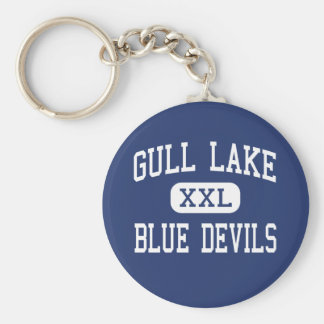 Gull Lake - Blue Devils - High - Richland Michigan Basic Round Button Key Ring