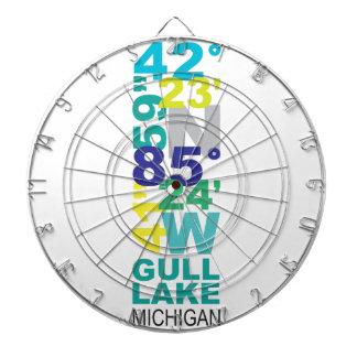 Gull Lake, MI Coordinates - Water Dartboard