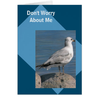 Gull on a Rock Template travel Card