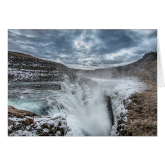 Gullfoss Waterfall, Iceland Card