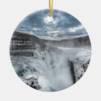 Gullfoss Waterfall, Iceland Christmas Ornament