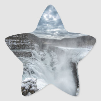 Gullfoss Waterfall, Iceland Star Sticker