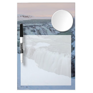 Gullfoss Waterfall in Iceland Dry Erase Board With Mirror