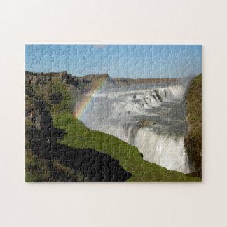 Gullfoss waterfall in summer jigsaw puzzle