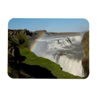 Gullfoss waterfall in summer magnet