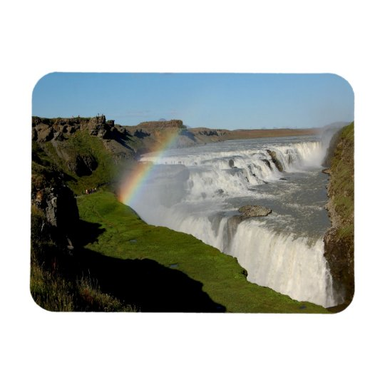Gullfoss waterfall in summer magnet