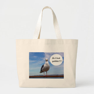 gullible seagull canvas bags