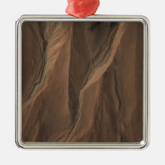 Gullies at the Edge of Hale Crater, Mars Christmas Ornament