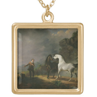Gulliver Addressing the Houyhnhnms, 1769 (oil on c Personalized Necklace