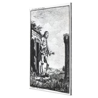 Gulliver amongst the Lilliputians Canvas Print