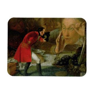 Gulliver Exhibited to the Brobdingnag Farmer Magnets