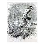 Gulliver stealing the Blefuscudian fleet Postcard