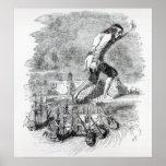 Gulliver stealing the Blefuscudian fleet Poster