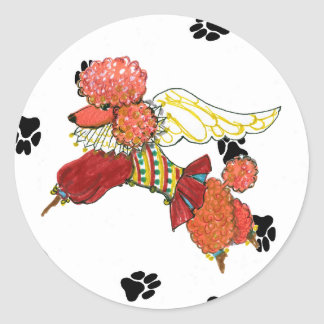 Gulliver's Angels Apricot Poodle Sticker