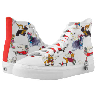 Gulliver's Angels Hi Top Dog Walking Booties Printed Shoes