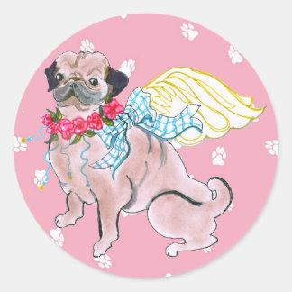 Gulliver's Angels Rosebud Pug Sticker