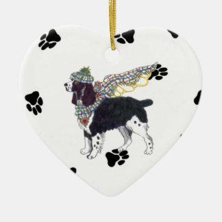 Gulliver's Angels Springer Ceramic Heart Ornament