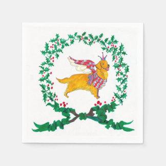 Gulliver's Golden Retriever Christmas Napkins Disposable Napkin