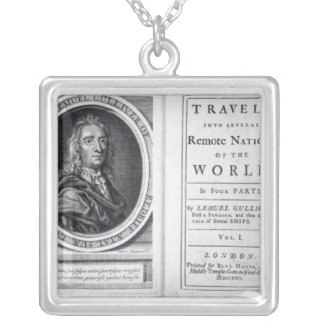 'Gulliver's Travels' by Jonathan Swift, 1726 Silver Plated Necklace