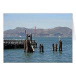 Gulls at San Francisco Bay Pier Greeting Card