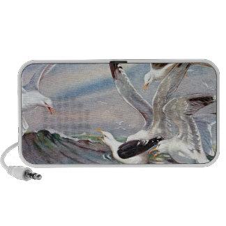 Gulls In Ocean Portable Speakers