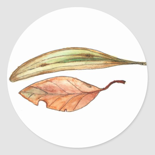 Gum Leaves Classic Round Sticker
