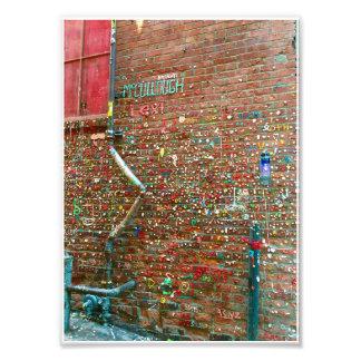 gum wall photo print
