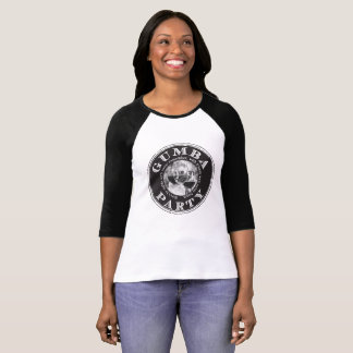 Gumba WINE Logo in Black on Front T-Shirt