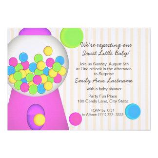 Gumball Baby Shower Invites