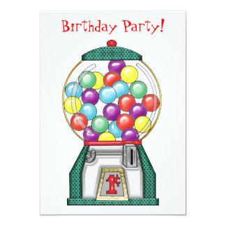 Gumball Goodies Birthday Party 13 Cm X 18 Cm Invitation Card