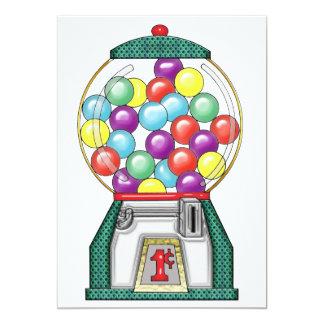 Gumball Goodies 13 Cm X 18 Cm Invitation Card