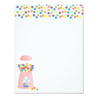 Gumball Machine 11 Cm X 14 Cm Invitation Card