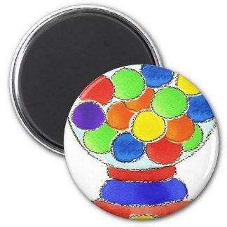 Gumball Machine 6 Cm Round Magnet