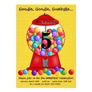 Gumball Machine Birthday Invitation