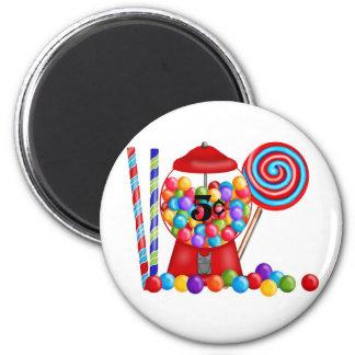 Gumball Machine Candy Lollipop 6 Cm Round Magnet