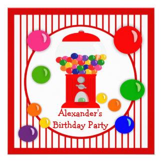 Gumball Machine Children s Birthday Invitations