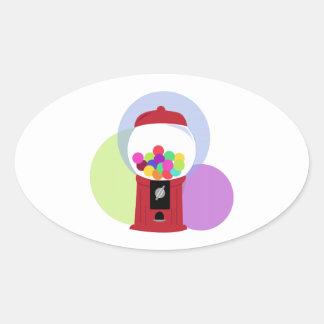 Gumball Machine Oval Stickers
