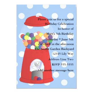 Gumball Madness 13 Cm X 18 Cm Invitation Card