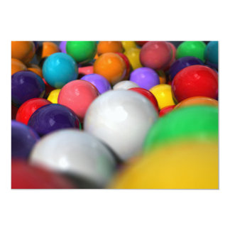 Gumballs Up Close And Personal 13 Cm X 18 Cm Invitation Card