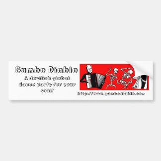 Gumbo Diablo Bumper Sticker Car Bumper Sticker