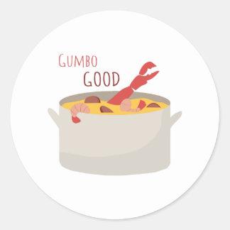 Gumbo Good Round Sticker