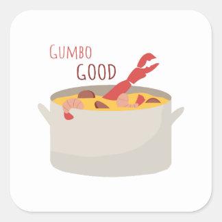 Gumbo Good Square Sticker