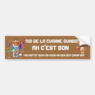 Gumbo King Mardi Gras View Hints please Car Bumper Sticker