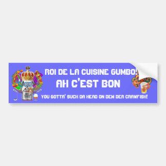 Gumbo King Mardi Gras View Hints please Bumper Sticker