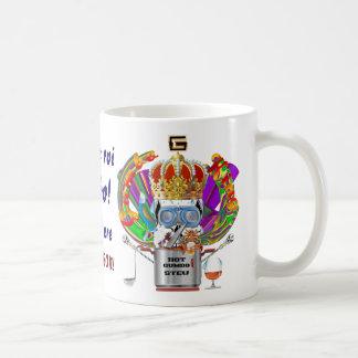 Gumbo King Mardi Gras View Hints please Classic White Coffee Mug