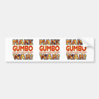 Gumbo Make X Bumper Sticker