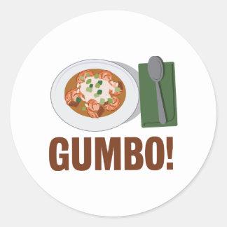 Gumbo Meal Round Sticker