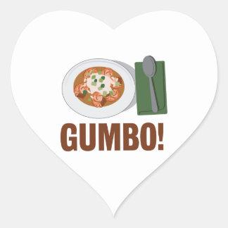 Gumbo Meal Heart Sticker