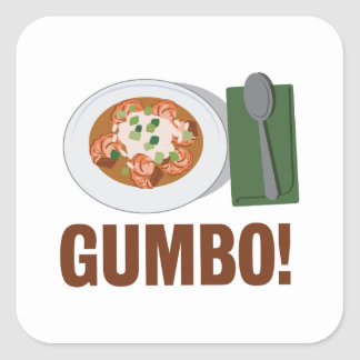 Gumbo Meal Square Sticker